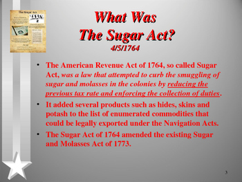 American Revolutionary War - The Sugar Act