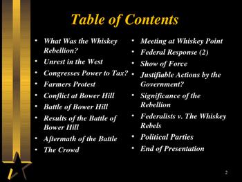 American Revolutionary War - The Whiskey Rebellion
