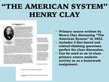 """The American System"" - Henry Clay - USH/APUSH"