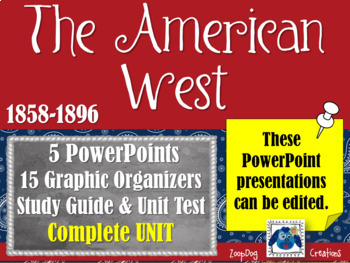 The American West 1858-1896 - PowerPoints, Graphic Organiz