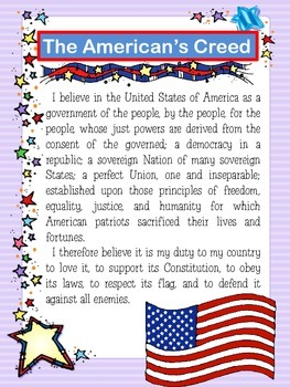 The American's Creed Poster_FREE