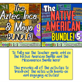 The Americas Guided Notes & PowerPoint: Aztec, Maya, Inca, Iroquois, Algonquin!