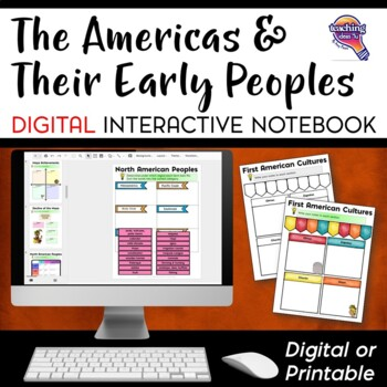 The Americas: Native Americans DIGITAL Interactive Notebook Unit World History