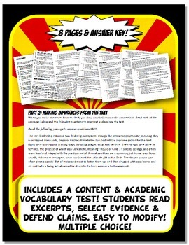 The Americas Quiz and Test Common Core Writing and Literacy