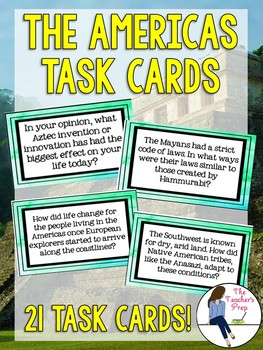 The Americas Task Cards