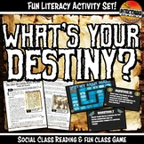 The Americas What's Your Destiny Close Reading & Fun Comprehension Game