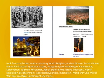 Age of Exploration Cornell Notes *Bundle* (World History) Americas & Exploration