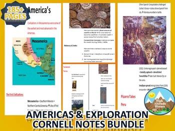 Exploration & Americas Cornell Notes *Bundle* (World History)