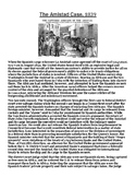 The Amistad Case, 1839 Article with Summary Assignment
