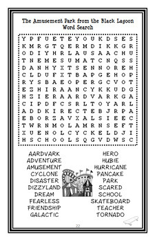 The Amusement Park from the Black Lagoon (Mike Thaler) Novel Study (22 pages)