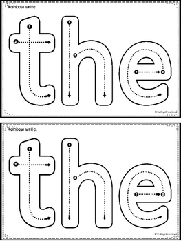 The:  An Emergent Sight Word Reader