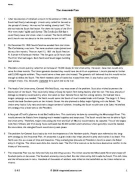 The Anaconda Plan - Grade 6