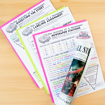 The Anatomy of a Newspaper: Journalism and Informational Text Lesson