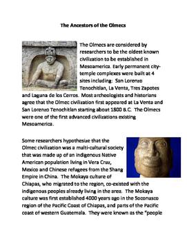 The Ancestors of the Olmecs