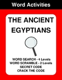 The Ancient Egyptian - Word Search, Word Scramble,  Secret Code,  Crack the Code