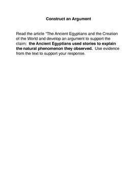 The Ancient Egyptians and the Creation of the World