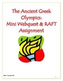 The Ancient Greek Olympics: Mini WebQuest & R.A.F.T Assignment