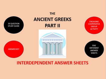 The Ancient Greeks Part 2:  Answer Sheets Activity