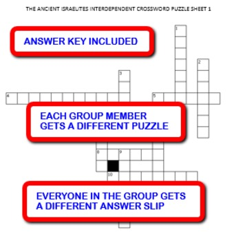 The Ancient Israelites:  Interdependent Crossword Puzzles Activity