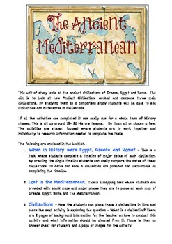 The Ancient Mediterranean - Egypt, Greece and Rome