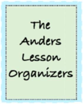 Lesson Plan Book/Templates!!  Five different plans!