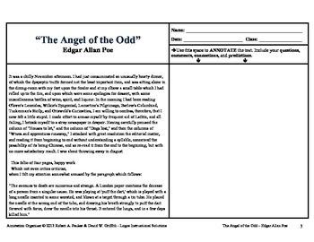 "EDGAR ALLAN POE'S ""The Angel of the Odd"": Annotation Organizer"