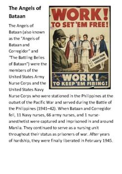 The Angels of Bataan Handout