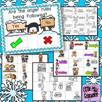 The Anger Rules Visuals and Sorting Game {elementary school counseling}