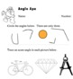 Angles Geometry Worksheet - Identify Angles in Pictures {acute, obtuse, right}