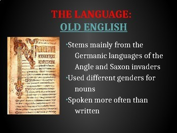 The Anglo-Saxon Period Introduction