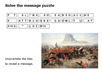 The Anglo-Zulu War - Solve the message puzzle from King Cetshwayo