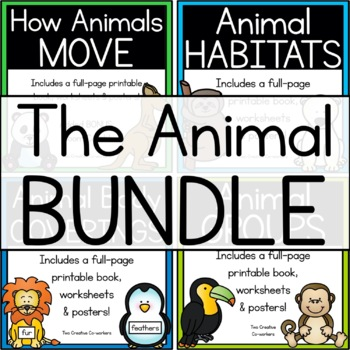 The Animal BUNDLE { movement, body coverings, groups, habitats }