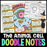 Animal Cells Science Doodle Notes with PowerPoint & Quiz