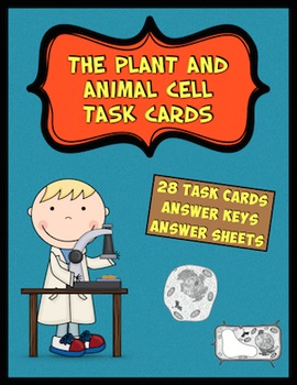 Animal and Plant Cell Task Cards (Cell Organelles)