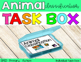 The Animal Classification Task Box {individual task box}