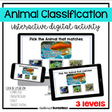 The Animal Classification interactive digital activity (distance learning)