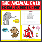 The Animal Fair Nursery Rhyme POEM and PUPPETS