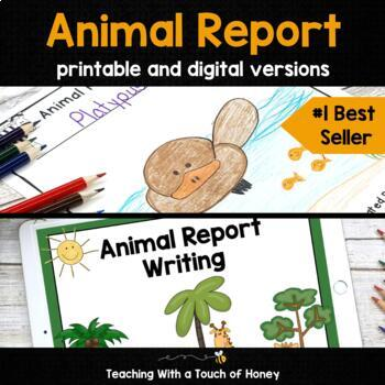 Animal Research Project: Animal Report Writing (Digital & PDF) Distance Learning