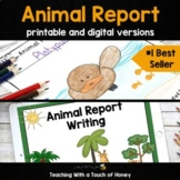 Animal Research Project: Animal Report Printable AND Digit