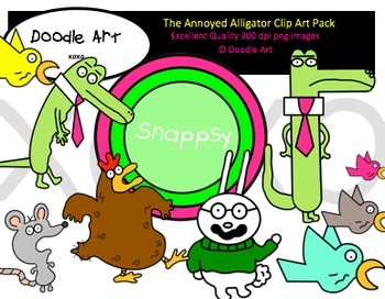The Annoyed Alligator Clipart Pack