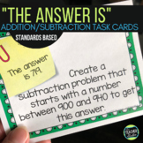 The Answer Is...Addition and Subtraction Task Card Challenges Print and Digital!