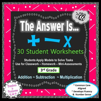 The Answer Is? Build Number Sense with Operations- Deeper