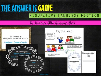 The Answer Is Game and Activity Bundle: Figurative Language Edition