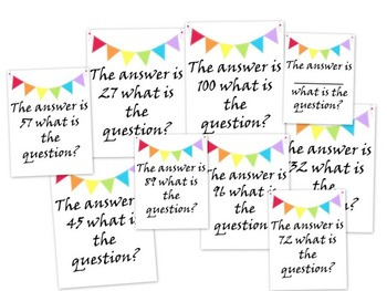 The Answer Is... Printable and Projectables critical thinking math questions