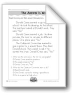 The Answer Is Yes (Donald Crews/Literature)