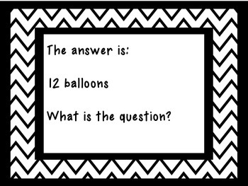 The Answer Is…What Is The Question?