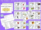 The Answer Is...What's The Question? Math Task Cards