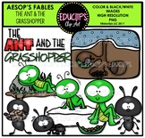 The Ant And The Grasshopper Clip Art Bundle {Educlips Clipart}