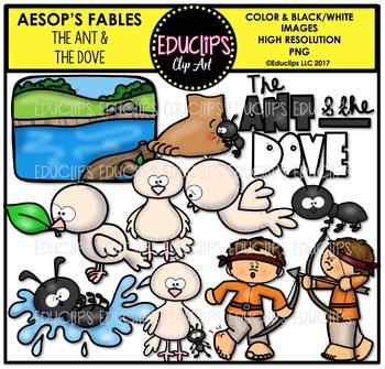 The Ant & The Dove Clip Art Bundle {Educlips Clipart}