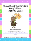 The Ant and the Chrysalis - Aesop's Fables - Choice Board